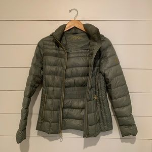 michaels kors down jacket with hood